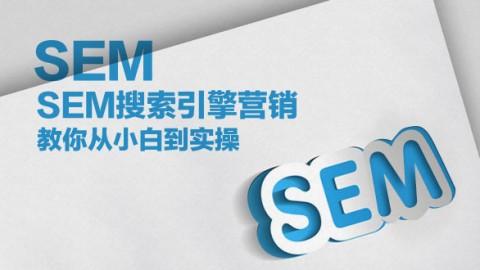 SEM搜索引擎营销,教你从小白到实操